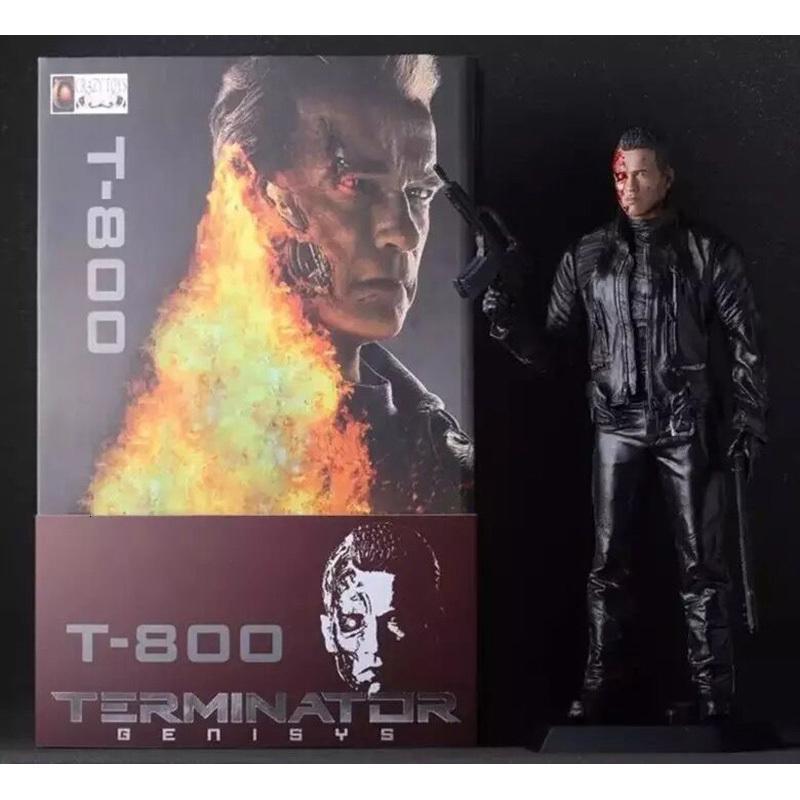 30CM Yeni Film Çılgın Oyuncak Terminatör 2 rakam Mahşer Günü T-800 Arnold Schwarzenegger PVC Action Figure Model Oyuncak Noel Hediyesi