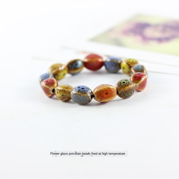 Jingdezhen glasiert Frauen dekorative Keramik Schmuck Geschenke für Freundinnen Jingdezhen Keramik glasiert Perlen Armband Frauen Bracele wulstige