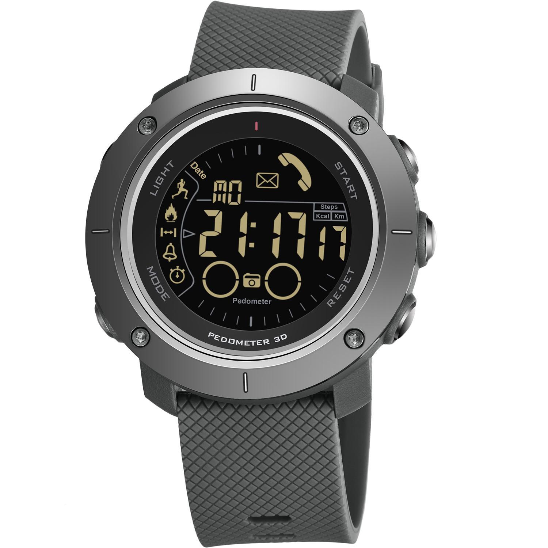 Heiße Art Bluetooth intelligenter Schritt Alarm Watch unterstützt ios android Sport elektronische Uhr Herren-Sportuhr