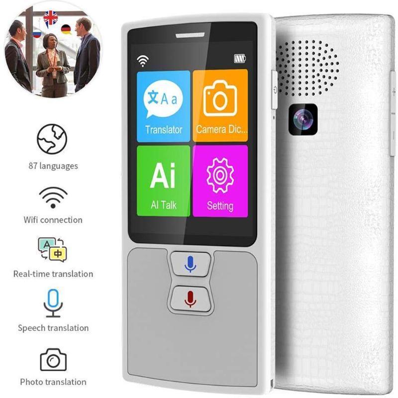 87 Language Portable Voice Translator English Japanese Chinese Russian Language Voice Translation Device