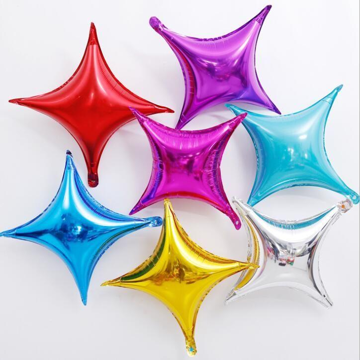 Partito Balloon Quattro ha forma di stella pellicola di alluminio di Balloon Pure Volor vacanze Wedding Birthday Party Decoration WY356