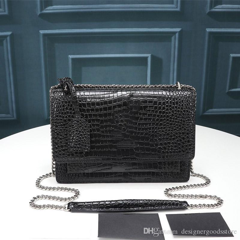 Diseñador de lujo mujer diseñador cadena hombro bolsos bolsa puesta de sol cadena cadena colgajo bolsas de alta calidad bolsas de moda bolso billetera iuonb