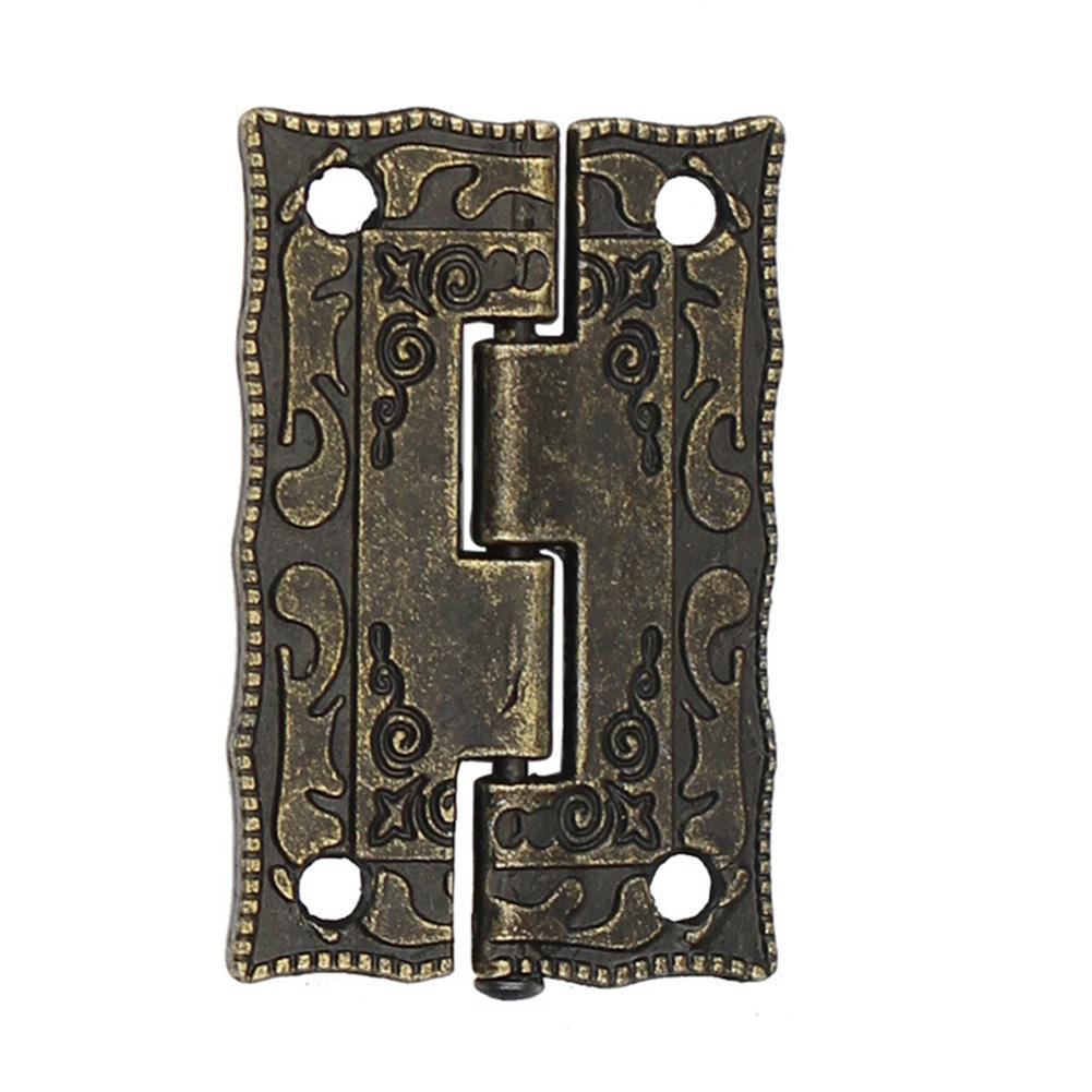 Las bisagras de bronce antigua de la puerta del gabinete del cajón Mini decorativo Bisagra para la joyería de almacenamiento caja de madera para muebles