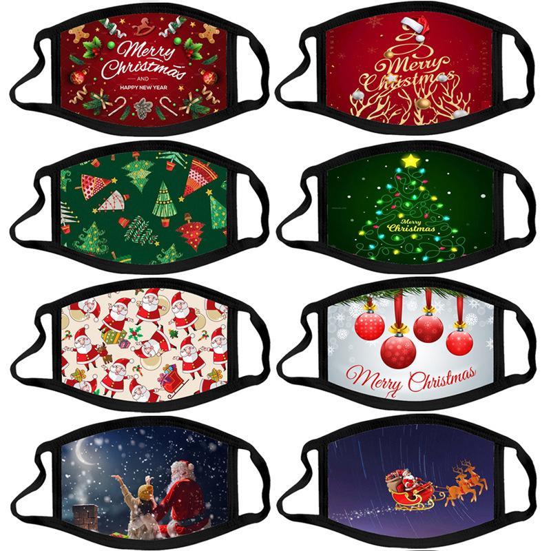Designer de Noël débarbouillette PM2,5 Masque filtre coton adultes Mode Pajama Party Lavable Lumious Mask