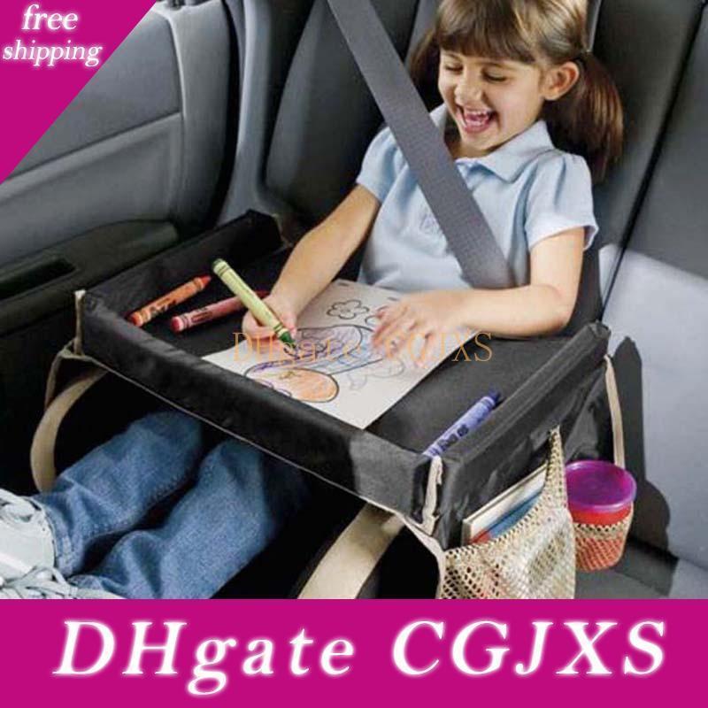 5 Renk Gezi Bebek Otomobil çocuk koltuğu Tepsi Çocuk Snack Çal Tepsi Su geçirmez Katlanabilir Araç Yemek Masası İçecek Raf