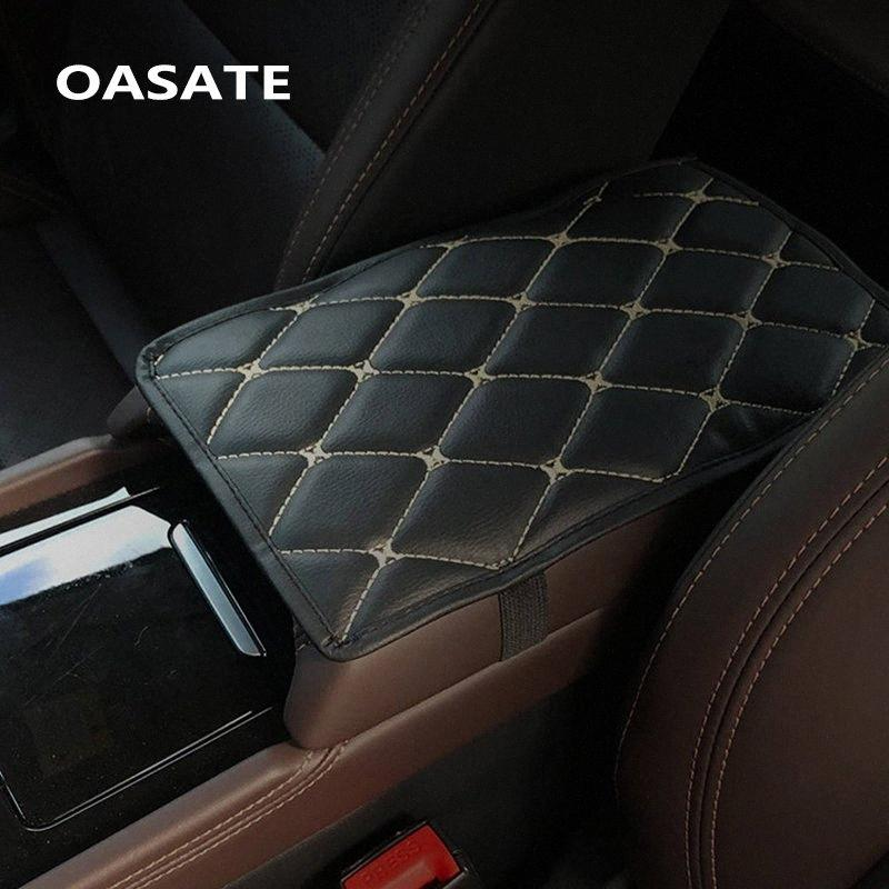 Leather Car Armrest Pad Covers Universal Center Console Auto Seat Armrests Box Pads Black Armrest Storage Protection Cushion Gel Auto hcWM#