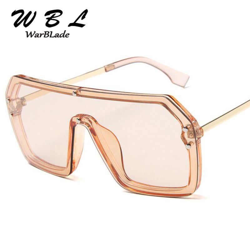 Warblade nuovo modo Gli occhiali da sole vintage Oversized Piazza Occhiali da sole ovale Telaio Uomini Eyewear Occhiali 2020