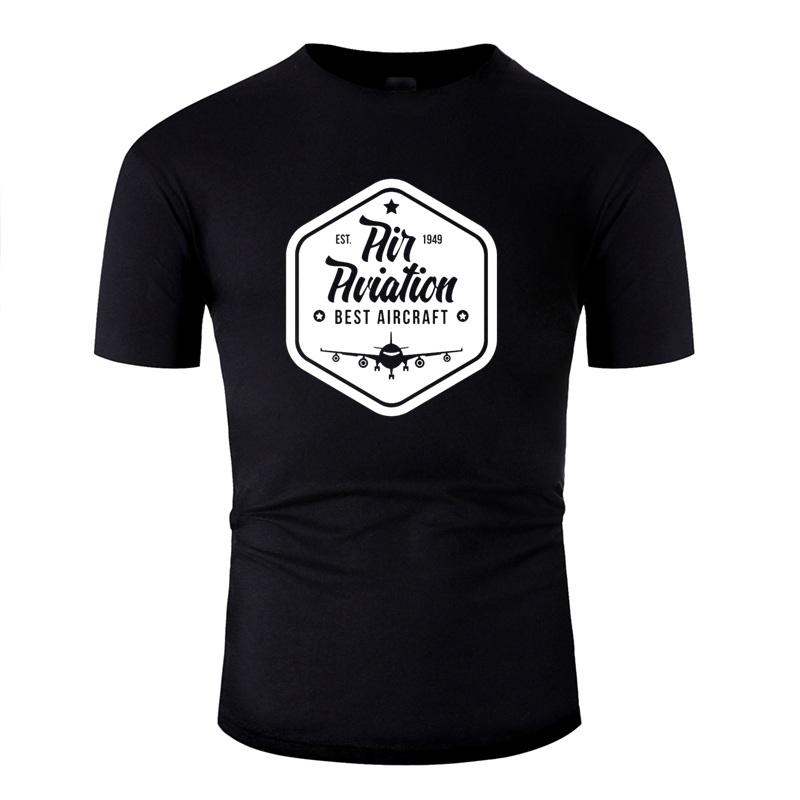 De punto ocasional de la camisa camiseta de algodón Hombre Cartas Comics Mejor Aviación mejores aviones camisetas Gris Camisas Tee Top