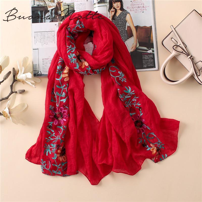 인도 두건에서 일반 놓은 꽃 비스코스 스카프 목도리면 스카프와 랩 풀라 Sjaal 무슬림 히잡을 인쇄