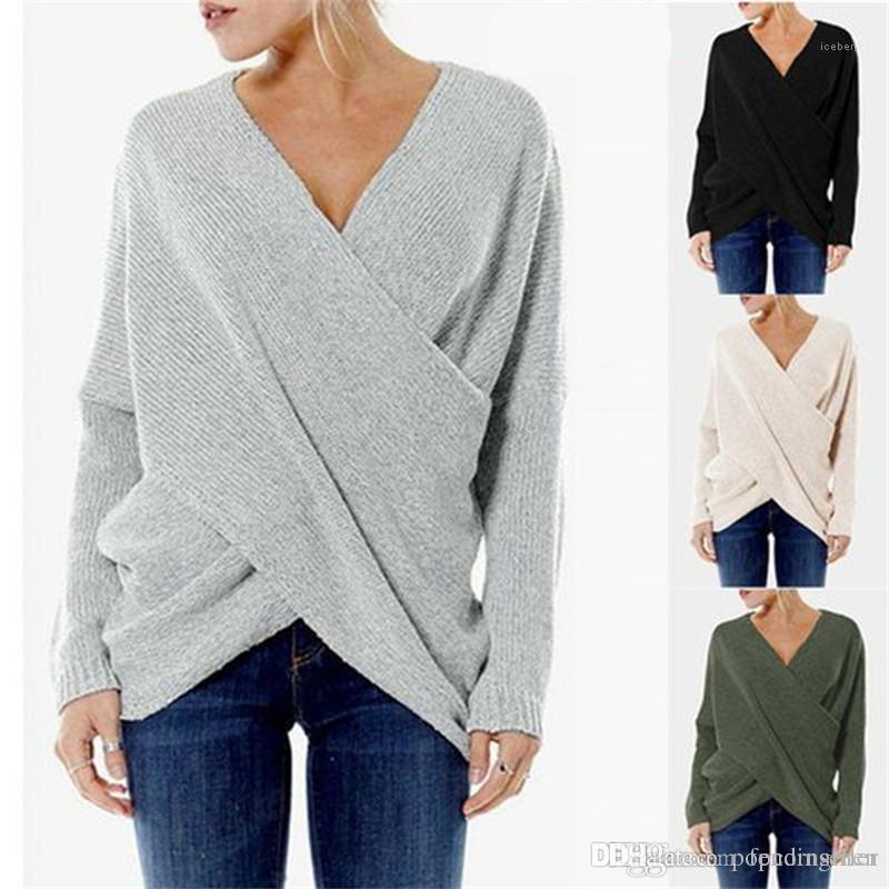 Designer Pulls Nouveau Femmes Mode irrégulière Pull à manches longues manteaux de femmes vêtements décontractés Femme Automne Hiver