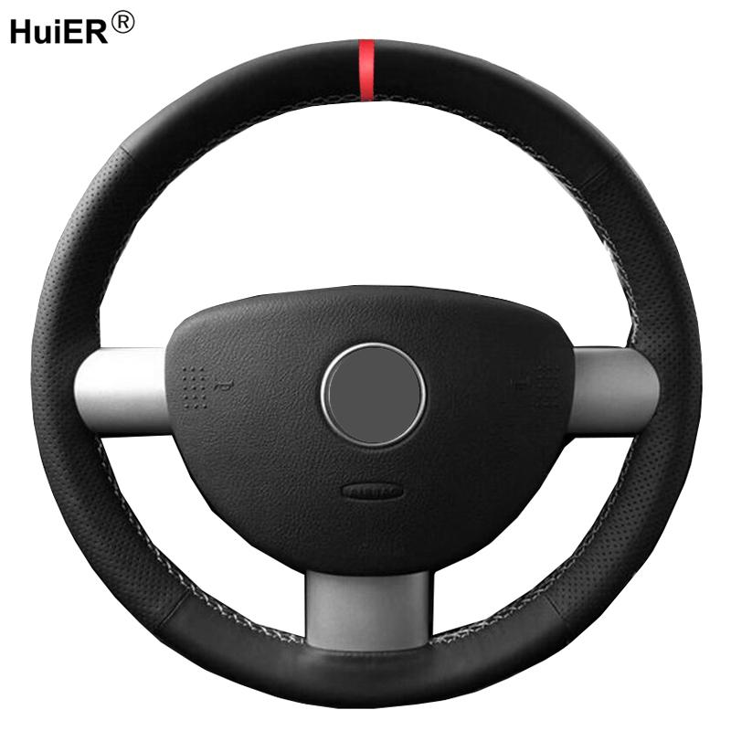 Hand Sewing Car Steering Wheel Cover Wrap Volant For Volkswagen VW Beetle / New Beetle 2000 - 2010 Braid on the Steering wheel