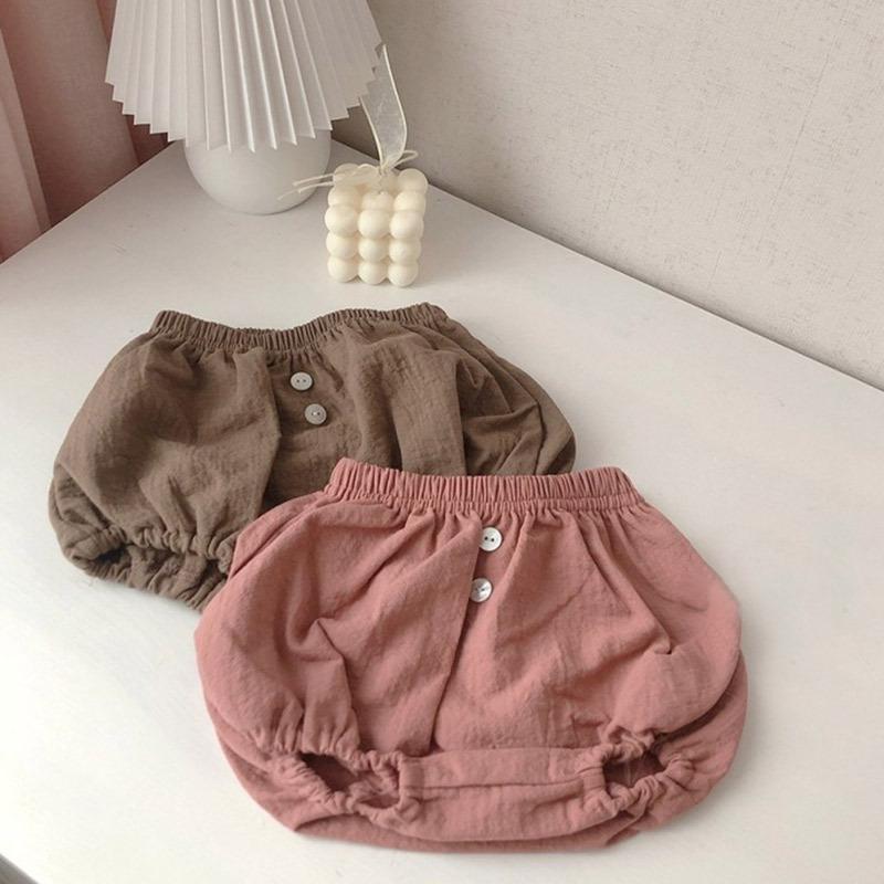 أطفال الرضع الحريم سروال القطن الكتان السراويل الطفل الوليد بنين بنات قصيرة بنطلون PP سروال سروال