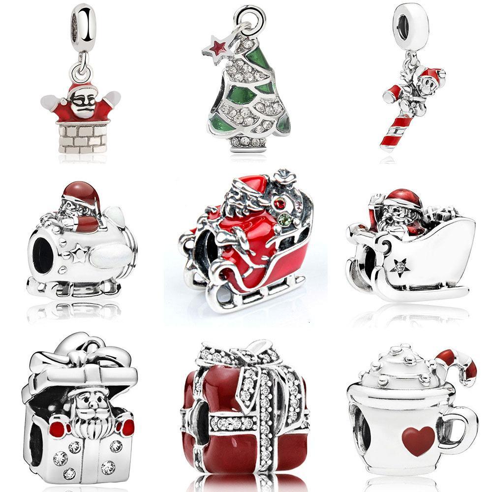 2021 Pandora Christmas Charms 2021 Christmas Charm For Women Girl Gift Adapting Pandora Bracelet Santa Claus Bead Jewelry Christmas Tree Charms Xmas Pendant Bangle From Caibdhgates 7 06 Dhgate Com