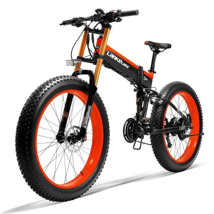 "X Superqualität LANKELEISI 26"" Zoll Fat Tire 1000W elektrisches Fahrrad 1000W elektrisches Fahrrad mit 48V 13AH Panasoni'c"