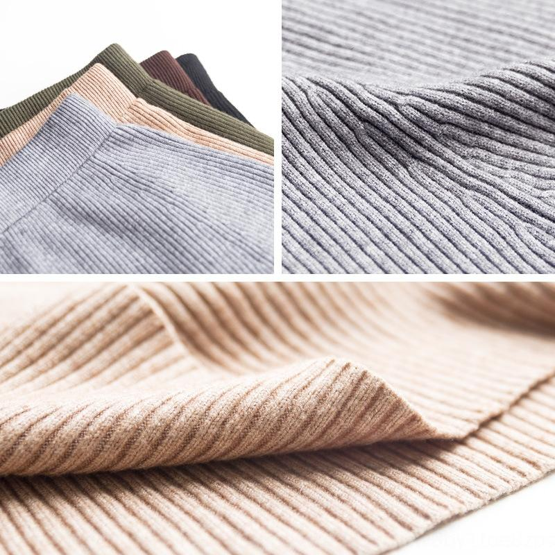 2020 Coregarns Herbst Rock Wolle und Winter unregelmäßig Wolle hohe Taille falteten halbe Länge eines förmigen gestrickten Rock Abnehmen