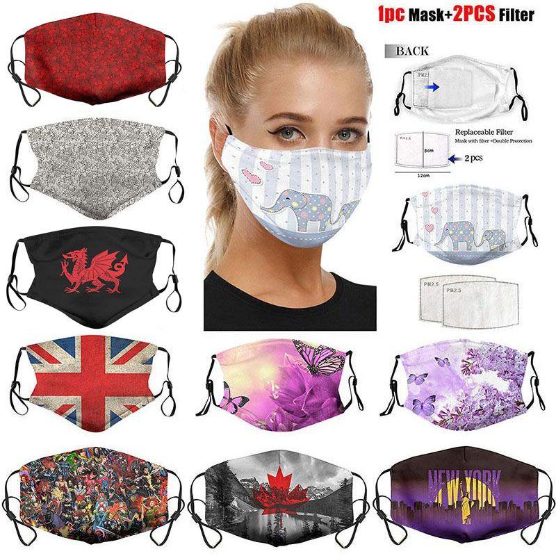 Liberty Kelebek moda yüzün DHL ulusal bayrağı Heykeli 2 filtre nefes yüz maskeleri ile ayarlanabilir koruyucu maske toz maskesi