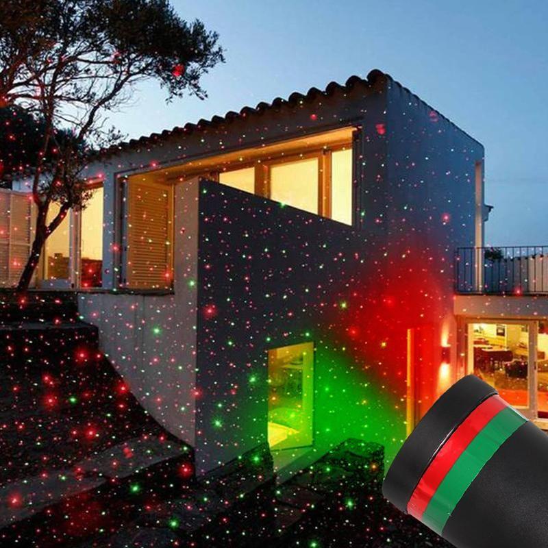 Outdoor-Schneeflocke LED-Stadiums-Licht-Garten bewegt Schnee-Laser-Projektor für Weihnachtsfest-Dekoration Landschaftslampe