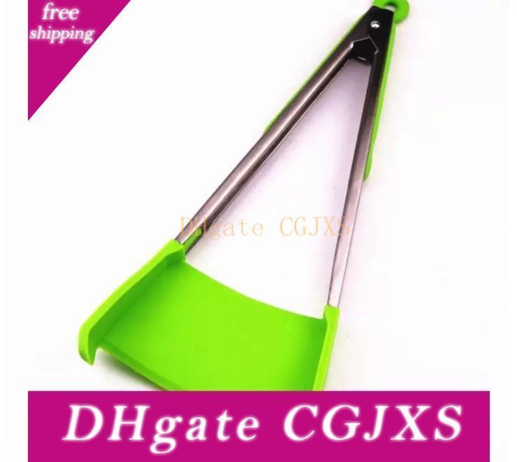 26 * 13cm Spatule Clever Tong 2 -En -1 Cuisine Spatule tenailles non -Stick résistant à la chaleur Cuisine Cuisine Helpe tenailles
