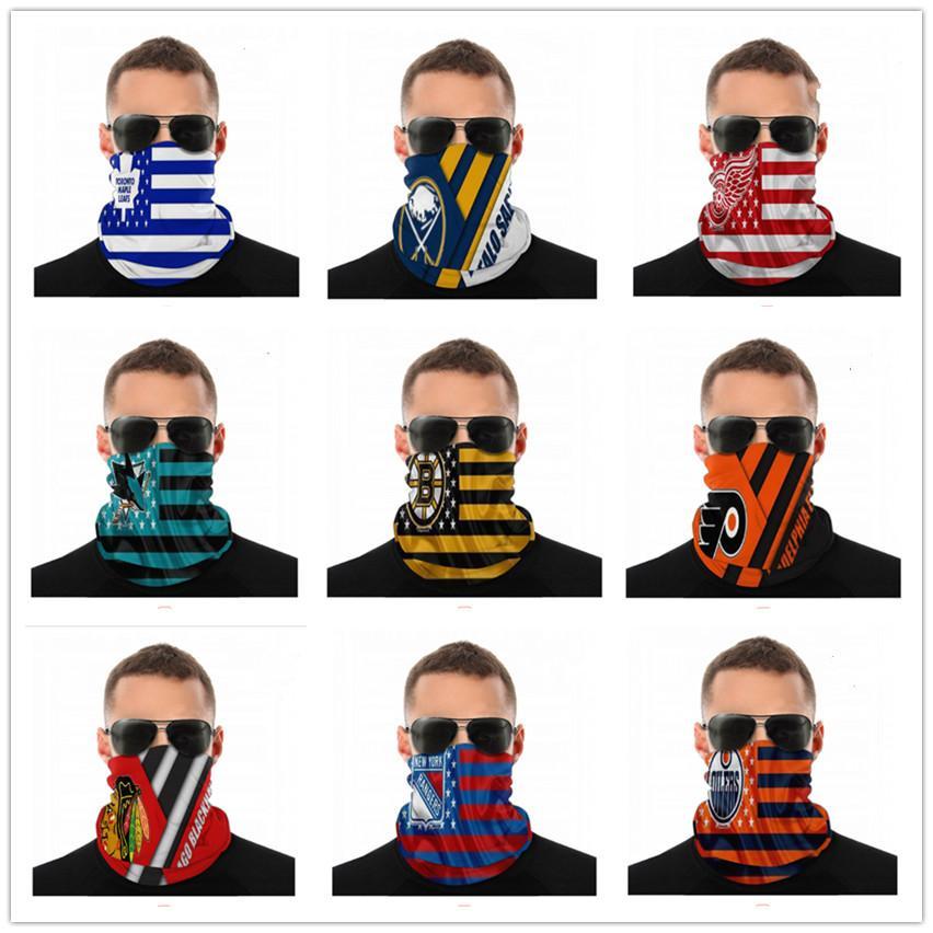 Diseñador de hockey sin fisuras Pañuelo para delirio de la mascarilla de polvo del viento UV Sun Bragas de cuello del tubo de Headwear de la motocicleta Ciclismo Montar Ejecución de las vendas