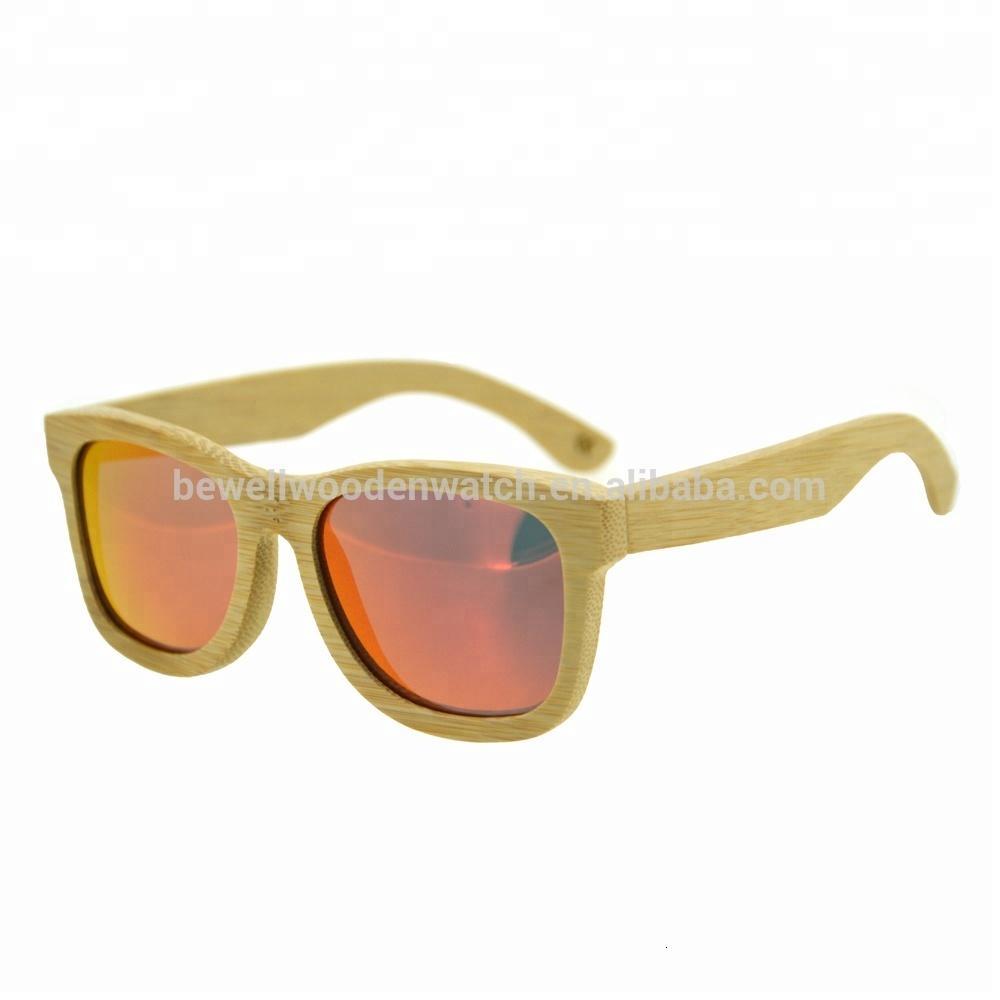 costumbres hechas a mano de bambú de las gafas de sol de madera