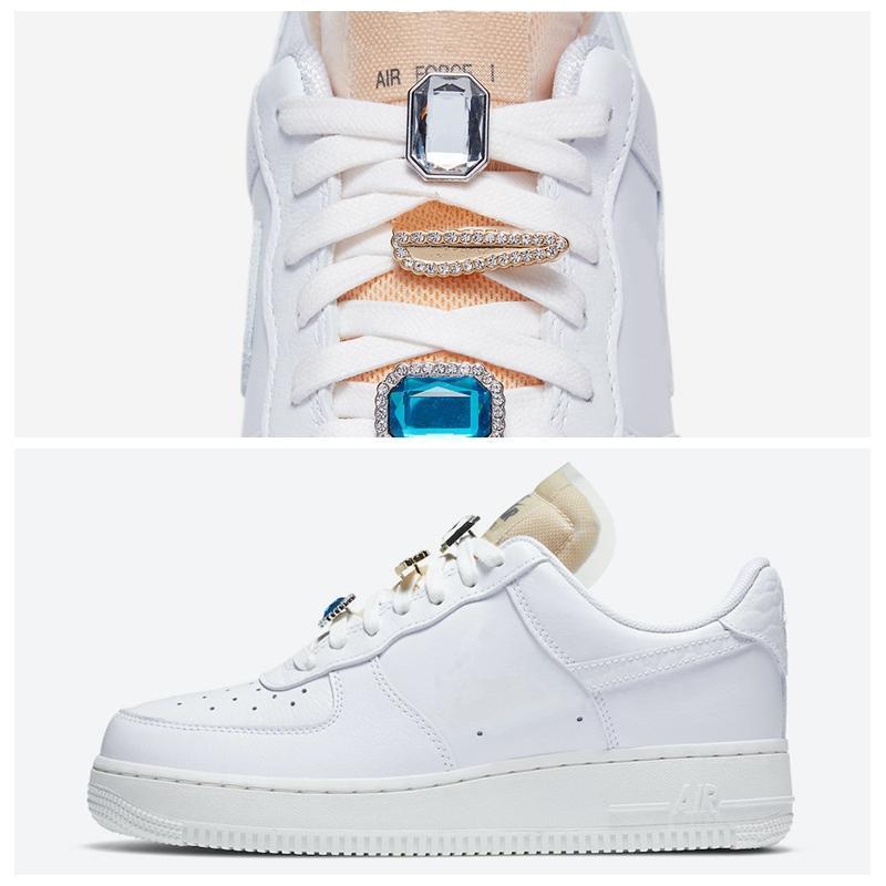 2020 Chaussures New 1 07 LX Running Shoes Designer Bling-Bling Gemstone Mulheres Trainers Skateboarding Esporte Sneakers Tamanho 36-40