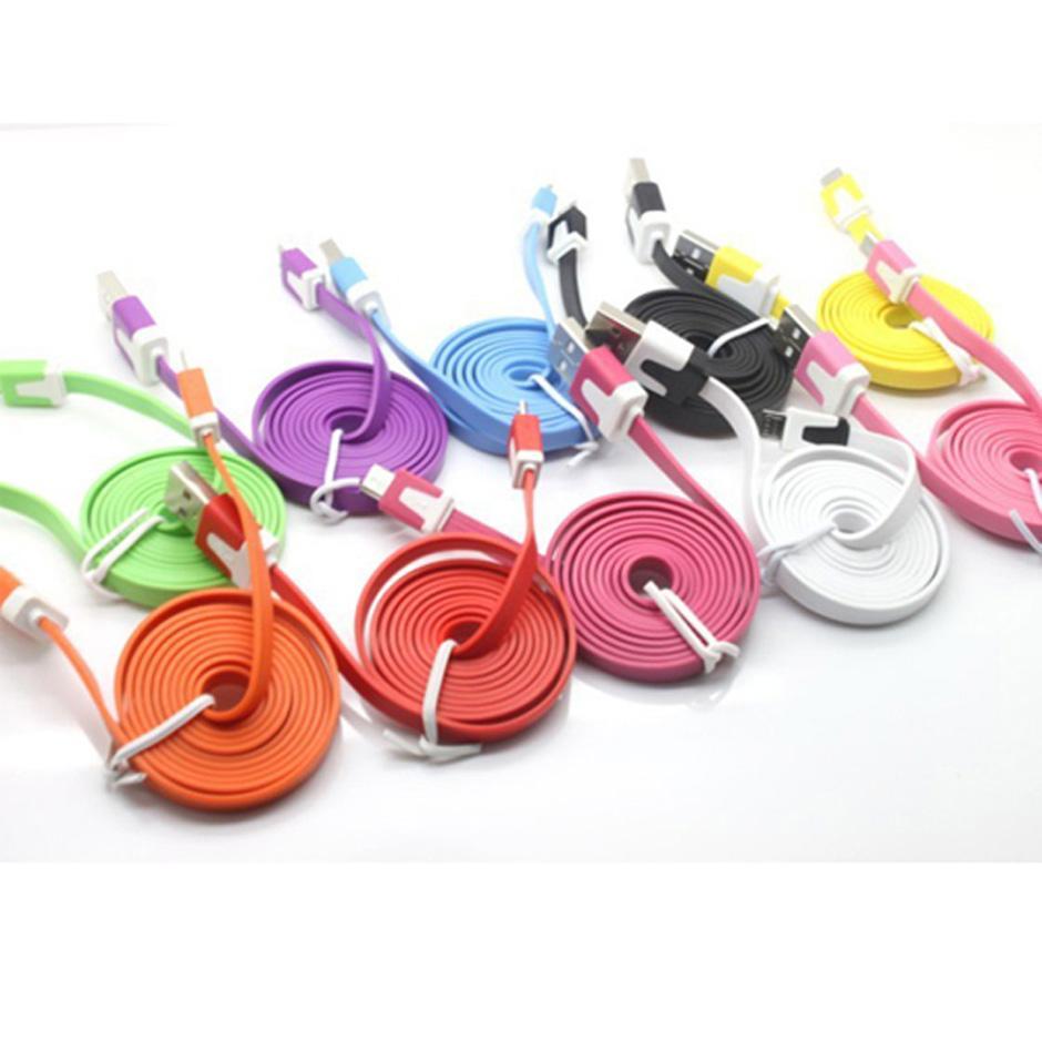 Micro-USB-Kabel Flache Nudel 1M V8 USB-Daten-Synchronisierungs Lade Bunte Schnur für Handy-Kabel