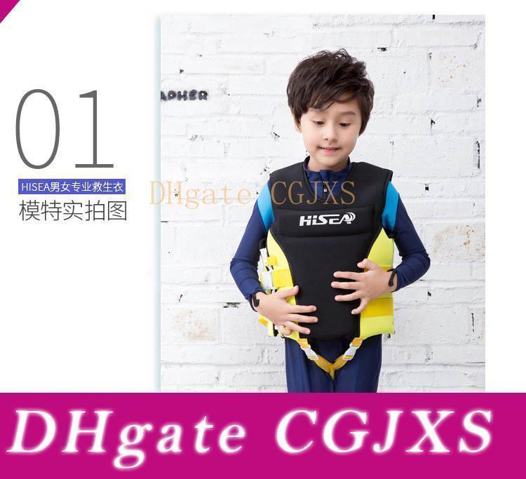 Enfants Life Vest, Duarable vie réglable Saver manteau de veste, néoprène Flottabilité Sécurisez Preserver pour bébé Tout-petit Enfant Petites filles