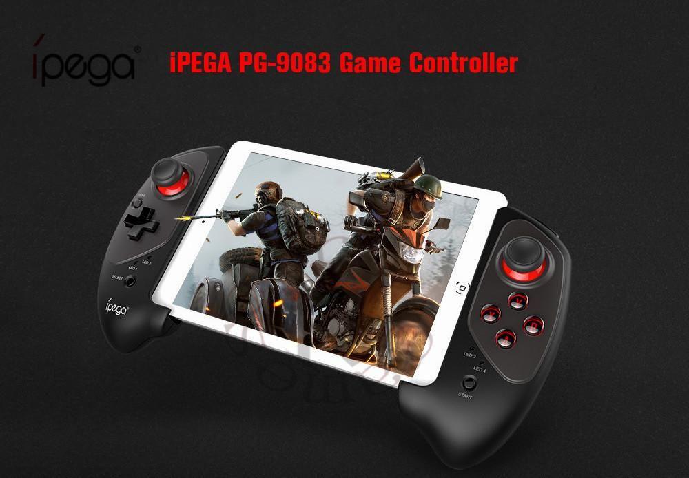 Cgjxs IPEGA Pg Pg -9083s 9083 Bluetooth Wireless Gamepad telescópica regulador del juego práctico estiramiento palanca de mando del cojín para iOS / Android / Win T19
