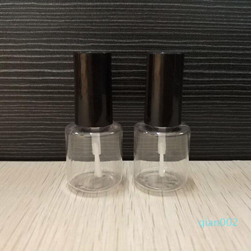 10ML de uñas botella vacía polaca claro al por mayor de plástico botellas de aceite de clavo del arte del clavo de contenedores