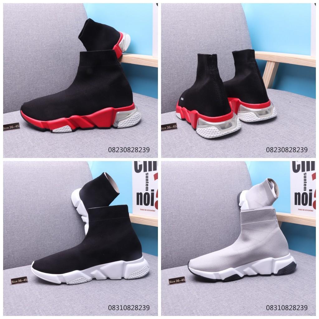 Top-Qualität Herrenmode Socken Schuhe Speed Trainer beiläufige Schuh-Turnschuh-Rennen Runners Frauen Sport-Designer-Schuhe 36-46 mit Box