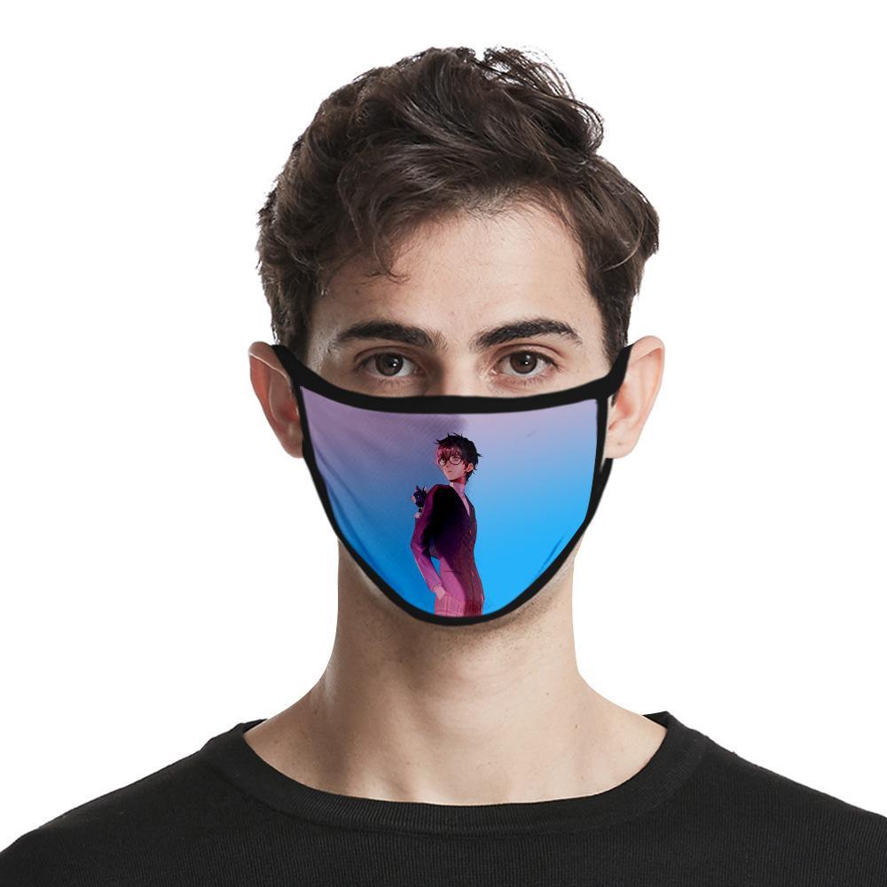 2020 مصنع جديد مباشرة آلهة مصمم أقنعة يي ون لو 3D الطباعة الرقمية الغبار الأزياء الجليد نسيج الحرير قناع الوجه قابل للغسل مخصص