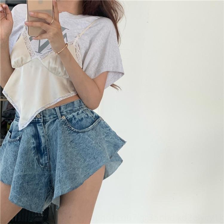 pantalones vaqueros de diseño paraguas sentido nicho de diseño que el verano puras y deseo y paraguas atractiva coreana pantalones cortos de mezclilla tQ8Lx