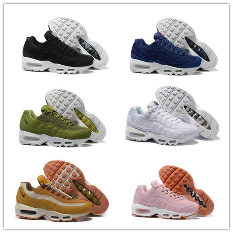 8674 Men Running Shoes 95s Triple Black WhiteAirMax95 Fuchsia Red Orbit Bred Aqua Neon Mens Trainers Sports Womens Sneakers