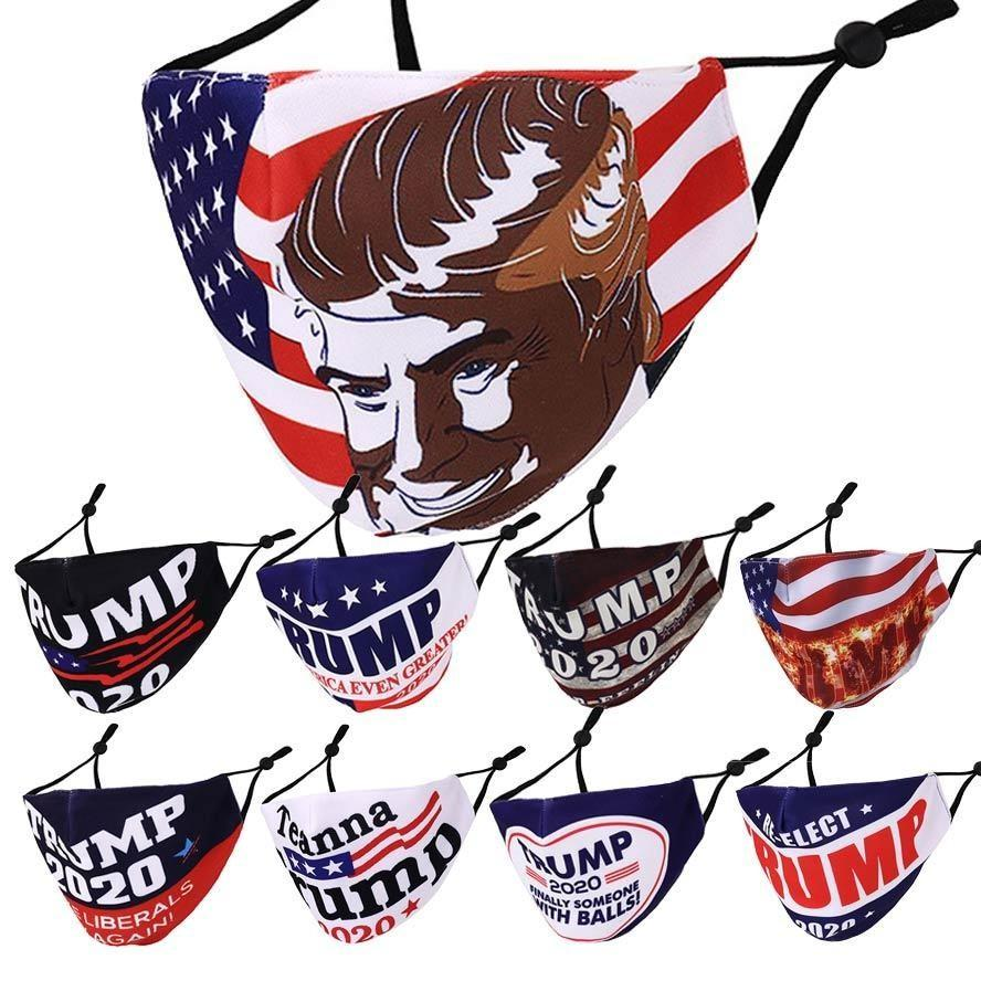 diseñador de mascarillas máscara de la cara de la moda de triunfo Biden máscara 2020 Elección Presidencial mascarilla Moda Imprimir polvo smog máscaras EWC1366