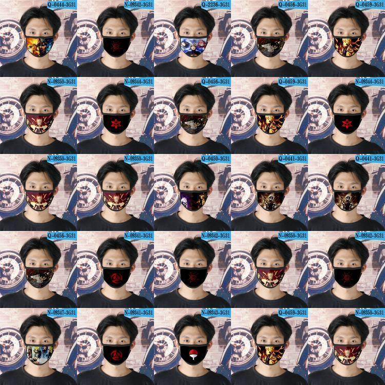 Wiederverwendbare Designer Tapabocas Cubrebocas für Mädchen-Karikatur-Gesichtsmaske 05 Naruto Ao Lmkdo Bbshome