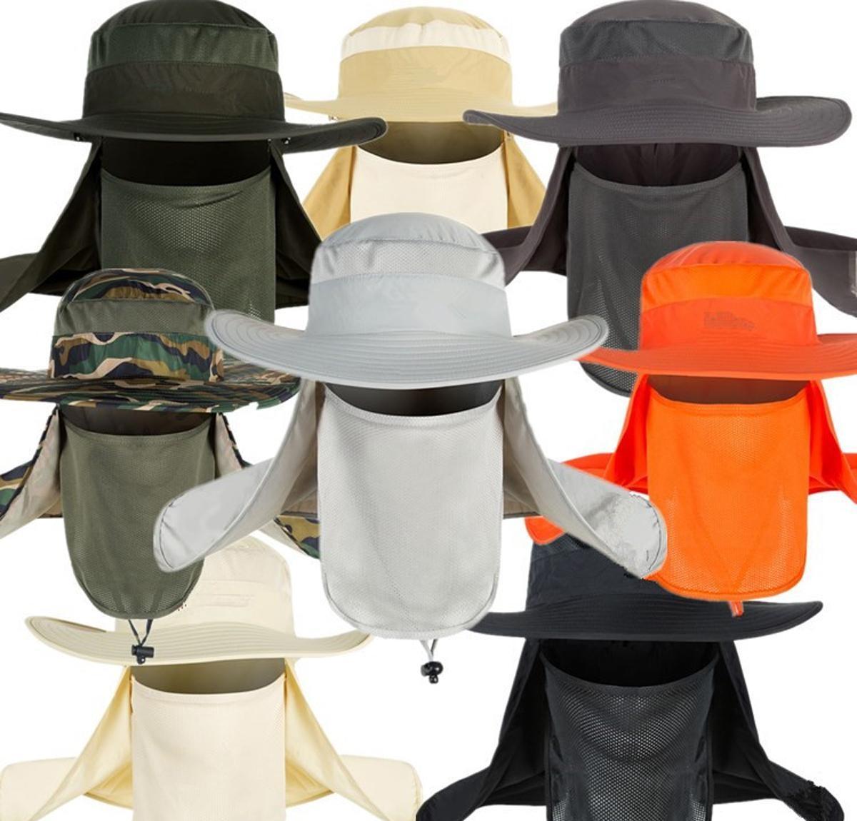 Cappellino di tela Con Visiera Visiera trasparente Visiera anti-inquinamento Cappello di protezione Donna Per prova della sabbia Cappello Pescatore