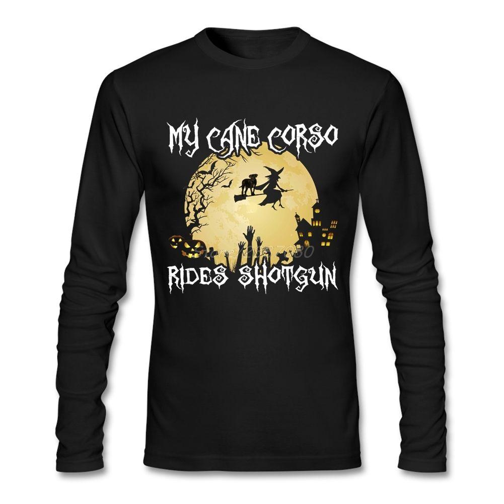 Nuovo stile Halloween T Shirt Abbigliamento Camiseta per gli uomini di cotone girocollo a manica lunga personalizzata T-shirt