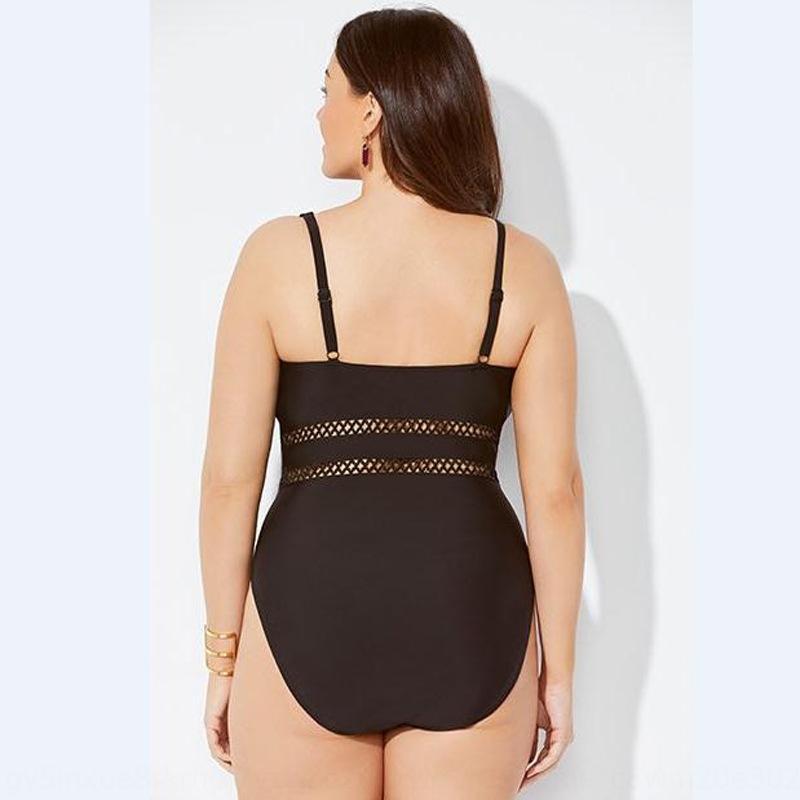 Цельный купальник женского нового сексуального Backless Консервативной живот покрытие сетка полой большого размера бикини купальник бикини 14 V3GBX