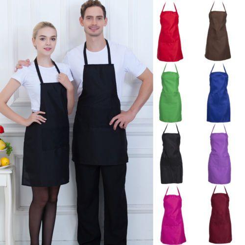 2020 Thicken Anti-desgaste Cooking Baking Acessórios avental da cozinha Bib avental com bolsos ajustável Bib Aventais Vestido para Mulher