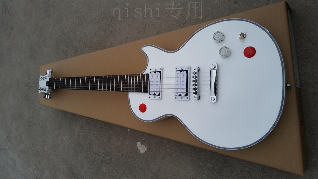 white guitar 24 fret china custom shop made beautiful and wonderful cool free shipping it is popular in this year