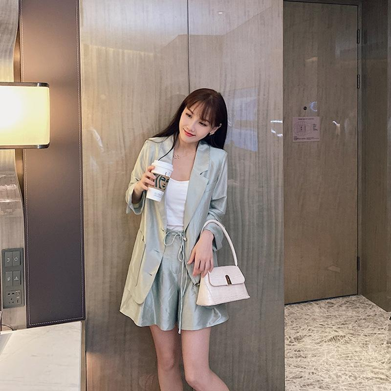 bV3ke ANNA ~ summer your own highlight Coat pants ~ light and thin suit coat + casual pants bring Western style suit casual business wear