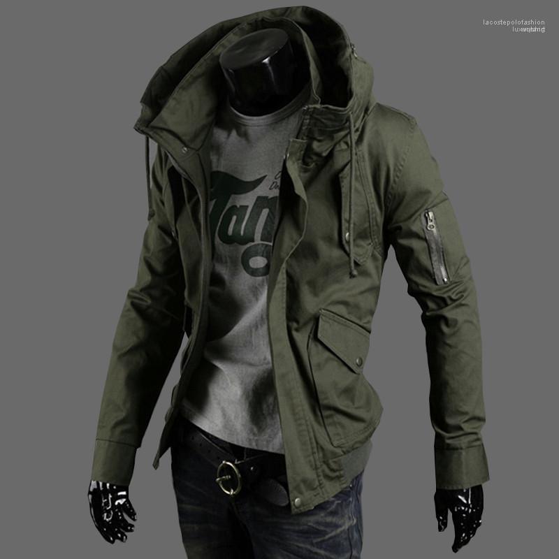 Prendas sueltas macho del diseñador del invierno para hombre de las chaquetas más el tamaño de manga larga con capucha para hombre abrigos con cremallera de la manera