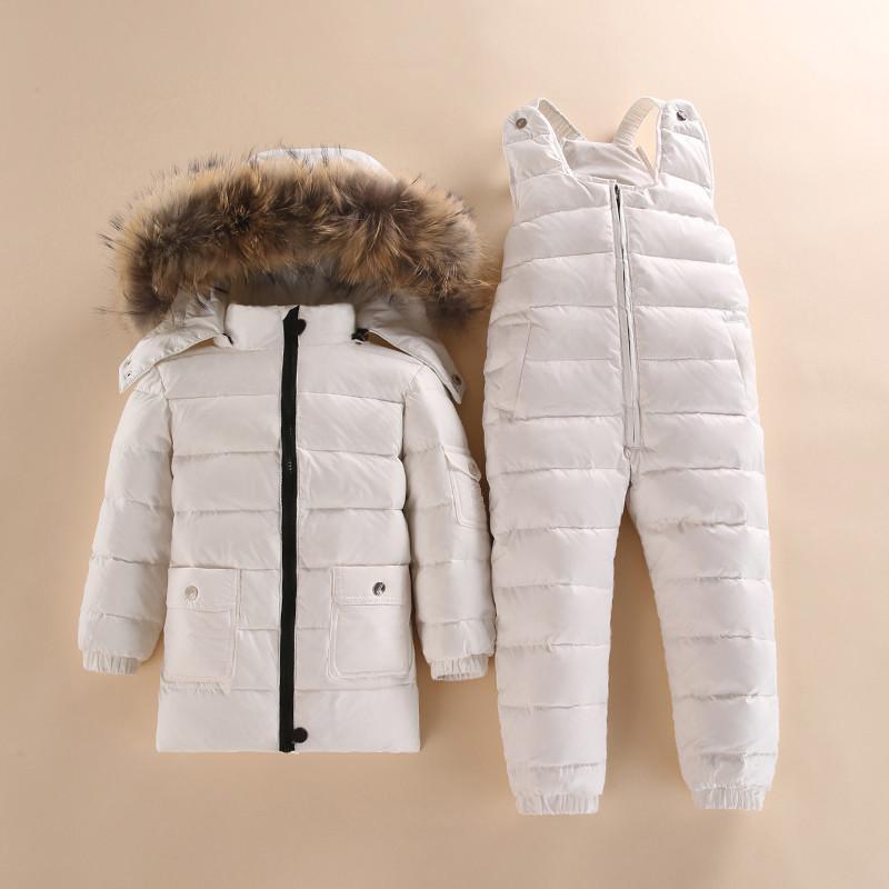 Nuevo estilo de los niños por la chaqueta del desgaste niños y niñas infantil chaqueta de invierno del bebé Parka nieve Conjunto caliente 200921 del bebé de invierno de esquí