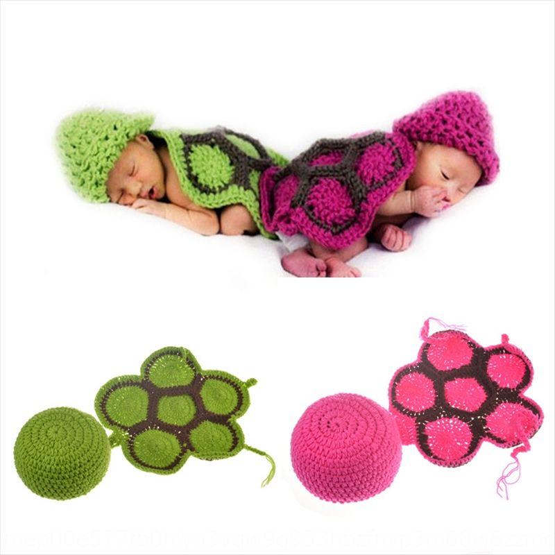pouca tartaruga terno foto de BYQee bebê tartaruga modelagem 100 dias chapéu foto manual do terno fotografia infantil chapéu infantil
