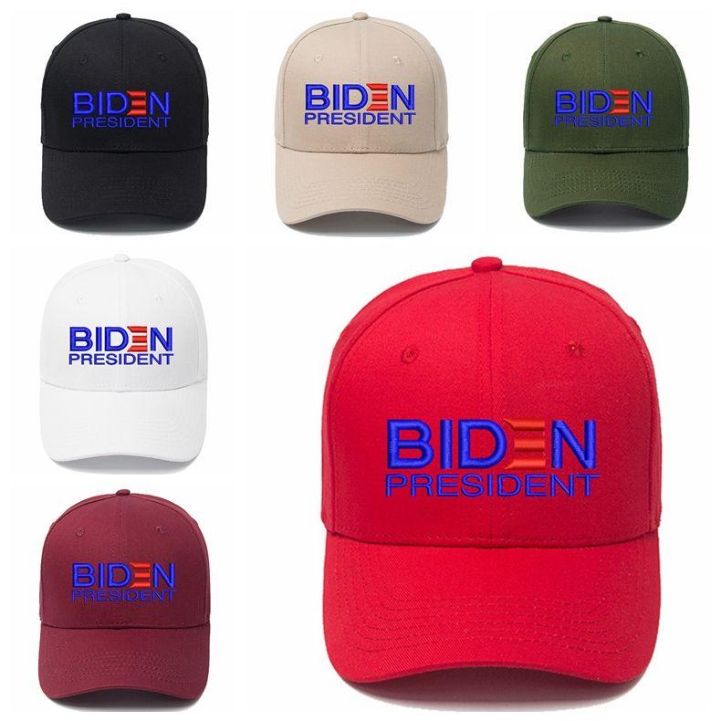 Джо Байден Бейсболка 2020 американских президента Выборы Регулируемых бейсболки Открытого письмо Вышивка партия Cap 7styles DBC BH3789