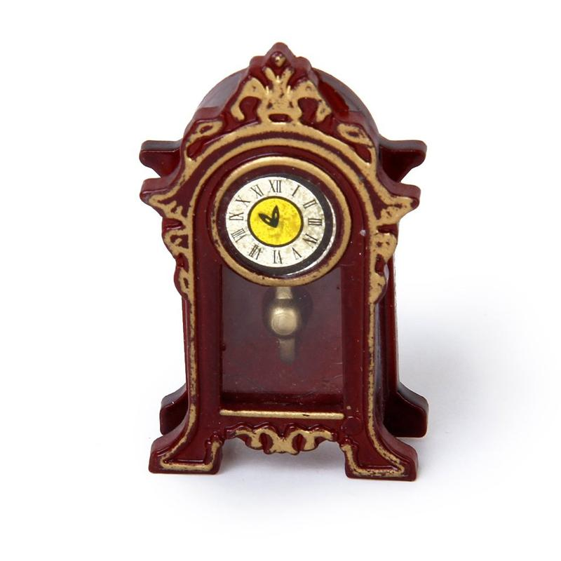 1/12 Casa de muñecas en miniatura Salas tabla del reloj clásico