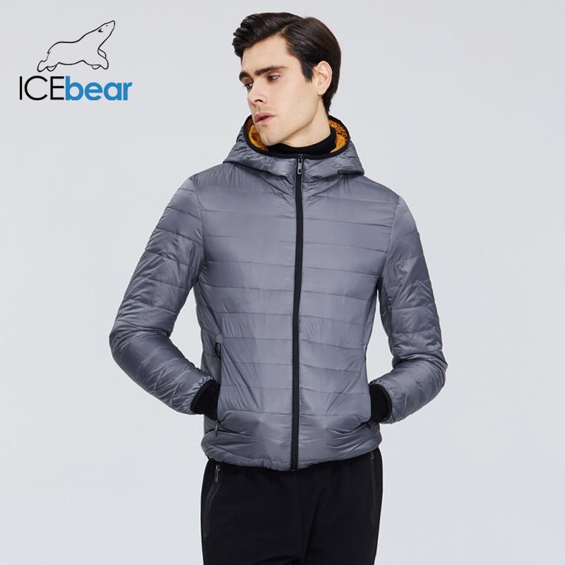 IceBear 2020 Nueva abajo de la capa de estilo de los hombres ocasionales de los hombres ligeros chaqueta masculina chaqueta con capucha de los hombres de la marca de ropa MWY19998D CX200814