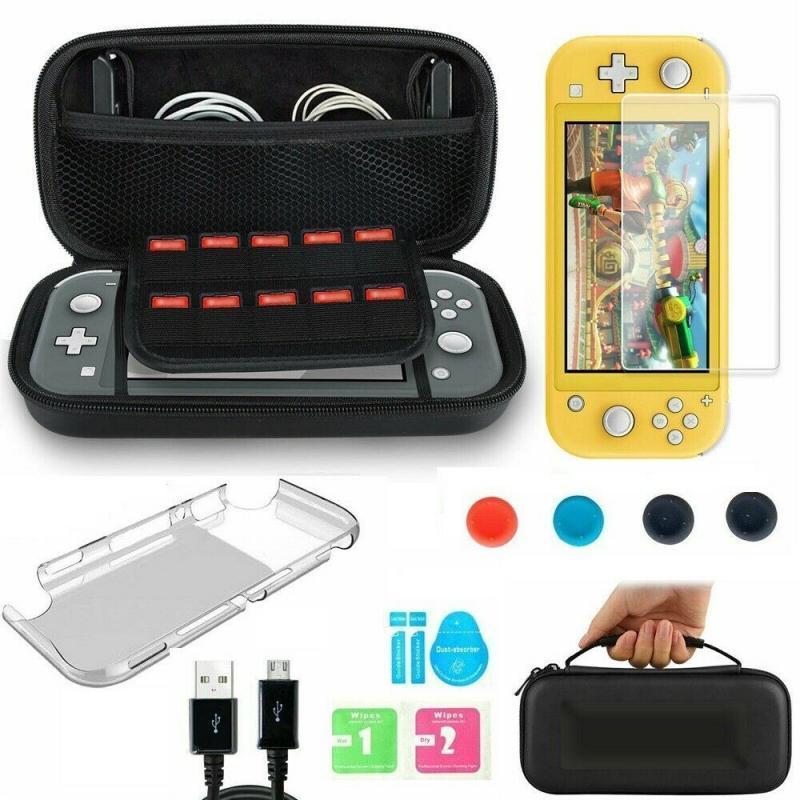 6 En 1 Accessoires pour Nintendo commutateur Housse de protection Lite + Shell Cover + Verre Trempé Protector Jeu Accessoires T200812