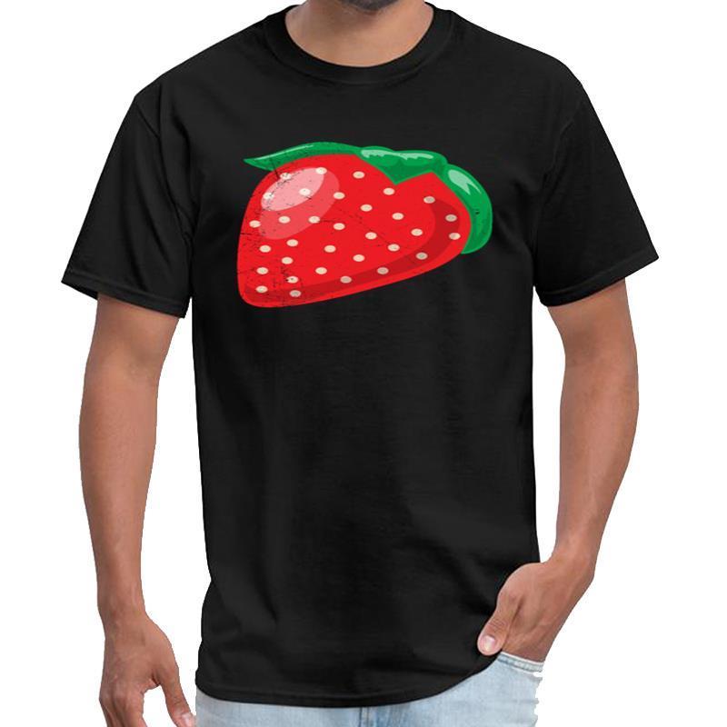 La conception de fruits fraise doux drôle idée cadeau vipkid t-shirt homme Subnautica t-shirt grande taille ~ 6XL tops de