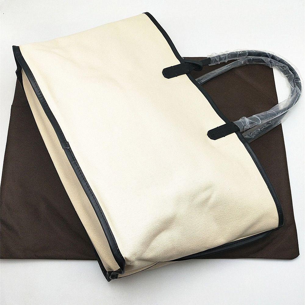 2020 moda de luxo Mulheres Bolsas clássico revestido de compras da lona Senhora de Grande Capacidade Totes Mulher bolsas de praia bolsas com punho forte